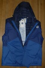 North Sails Blue Contrast Panel Hooded Zip up Jacket XXL