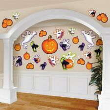 Pack of 30 Halloween Cutouts - Ghosts Pumpkins & Cats - Halloween Decorations