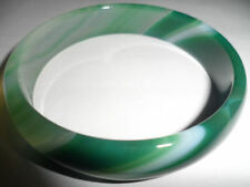 GENUINE MULTI GREEN AGATE BANGLE 188CT FROM MEXICO lovely colour bangle *