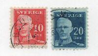 Sweden - SC# 142 & 143 Used      /       Lot 0820071