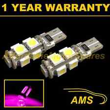 2X W5W T10 501 CANBUS ERROR FREE PINK 9 LED SIDELIGHT SIDE LIGHT BULBS SL101701