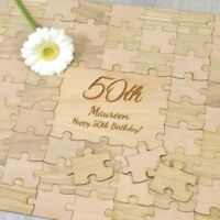 Birthday Party Jigsaw Puzzle Guestbook - Unique Guest Book Idea Keepsake Gift