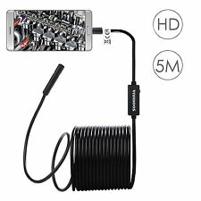 8.5MM Flexible Android PC USB Endoscope Snake Borescope Inspection HD 2MP Camera
