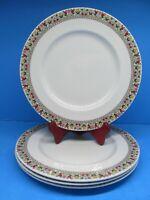 "Royal Doulton Fireglow 10 1/2"" Dinner Plates Set Of 4 Plates EUC"