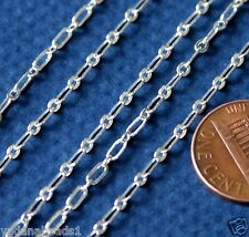 10ft of Silver Plated Long and Short chain 4X2mm