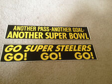 VTG 70s PITTSBURGH STEELERS VINYL STICKERS LOT OF 2 DIFFERENT NOS