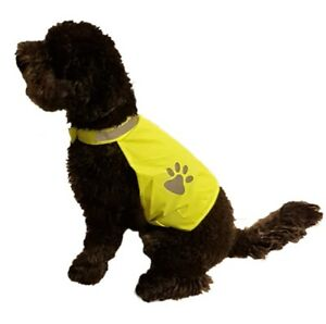 Reflective High Visibility Dog Jacket Hi Vis Viz Night UNPRINTED pet Jacket