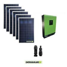 Kit Casa Solare Fotovoltaico 1.6KW Inverter onda pura 5KW 48V regolatore MPPT 80
