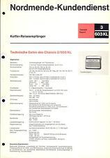 Nordmende Service Manual für Transita export 3.603-KL