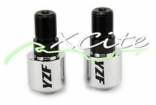 Chrome barends bar ends YAMAHA YZF R6 YZF1000R YZF750R YZF400 FZ600R #BE079#