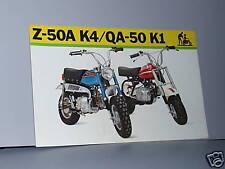 1973 Honda Z50A K4 / QA50 K1 Motorcycle Sales Brochure Literature