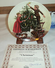 Knowles Christmas Plate 6 issue Americana Holidays Collection 1983 Don Spaulding