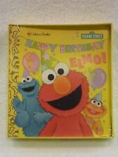 NEW NIP Golden Books Touch and Feel HAPPY BIRTHDAY ELMO! 1999 VINTAGE & NEW