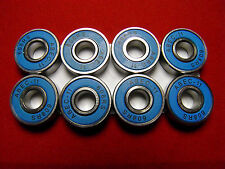 8 x ABEC 11 SCOOTER BEARINGS *NEW* BLUE SHIELDS