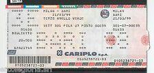 59714  - Vecchio  BIGLIETTO PARTITA CALCIO - 1998 / 1999 : MILAN /  BARI
