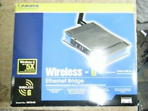 Linksys WET54G 2.4GHz 802.11g Wireless G Ethernet BRIDGE 54 Mbps