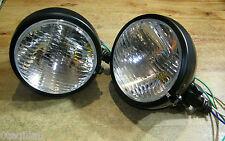 "2 phare moto avant  feu pieces chopper lampe light 10cm headlight bates 4.5"""