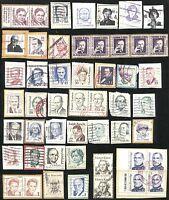 US Stamps Postage Collection USED Cancelled On-Paper Great Americans