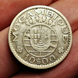 Mozambique 10 escudos 1952 coin (SILVER!) all dates available! see auctions pls!