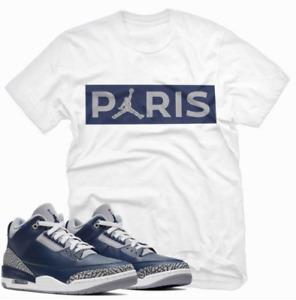 Jordan 3 Georgetown T Shirt, PARIS Unisex Tee Shirt to Match Air Jordan 3 Retro