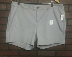 "Old Navy Gray Chino Style 5"" Inseam Shorts Women's Size 16"