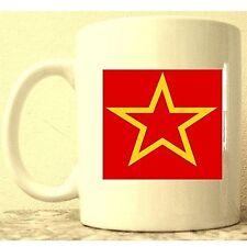 "WW2 RED ARMY ""Red Star"" Coffee / Tea  Mug. World War II Soviet CCCP, MINT"