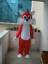 Professional New Arrival Red Fox Mascot Costume Fancy Dress Adult Size