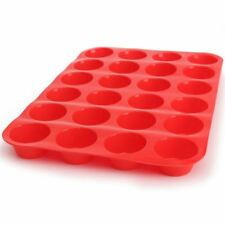 Mini Muffin Cup Silicone Cookies Cupcake Bakeware Pan Tray Mould (24 Cavities)