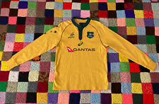 New listing Rugby Shirt Australia Wallabies Canterbury Striped Quantas LongSleeve Men Medium