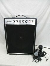 VINTAGE UNIVOX ELECTRIC GUITAR AMPLIFIER AMP U65RN + MICROPHONE CABLES GOOD COND