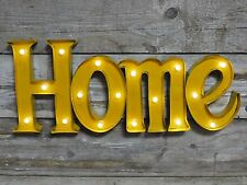 "FUNKY RETRO LIGHT UP WALL SIGN ""HOME"" WALL DECORATION"