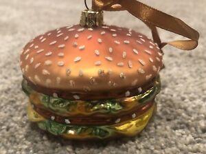 McDonald's Big Mac Christmas Ornament NEW Glass