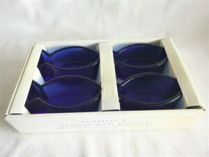 Cobalt Fish Snack Wasabi Soy Dishes NIB Pier One French Imports