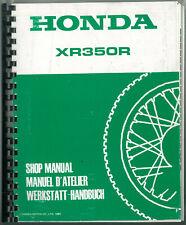 Revue d'Atelier HONDA XR 350 R 1985 - 1986 type NE 02 Manuel technique Manual