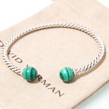 David Yurman Sterling Silver Solari Malachite Bead Bracelet with Diamonds