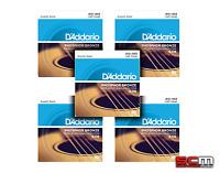 DADDARIO EJ16 FIVE SETS Phosphor Bronze Light Acoustic Strings 12-53 EJ-16