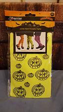Halloween Childs Neon Pumpkin Tights Green KidsParties/Dress up 25%offsale was£2
