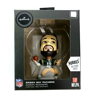 Aaron Rodgers Green Bay Packers NFL Bobblehead Wobbles Hallmark Ornament 2020