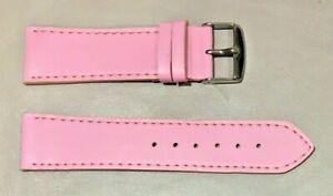Pulsera Correa de Reloj Piel Legítima Cuero 22 mm Rosa   Watchband 215