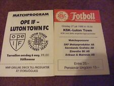 1980S OPE IF V LUTON TOWN   FRIENDLY-