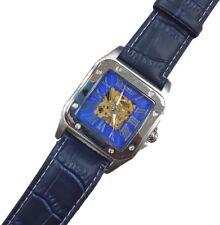 Orologio Polso YK Uomo Analogico Automatico Quadrato Elegante Moda Blu lac
