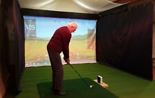 Black Golf Simulator Side Curtain, PVC-Backed Polyester (Custom Sizes Available)