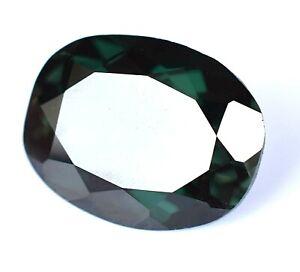 Extremely Rare Natural Dark Green Gahnite 6.95 Ct DALARNA Certified Gemstone !!