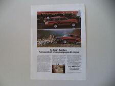 advertising Pubblicità 1981 JEEP CHEROKEE CHIEF