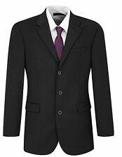 Burton Menswear PLAIN BLACK SUIT - 38S Jacket - 32S Trousers - RRP £110!!