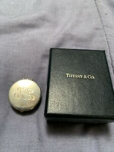 2004 Tiffany & Co. Sterling Silver Compass Compact & Box