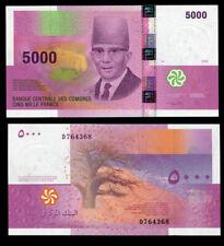 COMOROS 5000 5,000 FRANCS 2006 / 2012 P 18 UNC