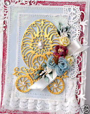 NEW ✿ Large Flourish Flower Lace Easter Egg Die ✿ For Cuttlebug Sizzix ✿