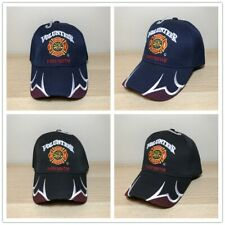 Fire Dept. Volunteer Firefighter Cap Hat Black
