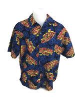 Hawaiian Tropic Suntan Oil Advertising Men's Hawaiian Aloha Camp Shirt Size L